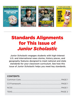 Junior scholastic magazine current events magazine for grades 6 8 standardsstandards fandeluxe Images