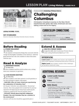 Challenging columbus lesson challenging columbus ibookread Download