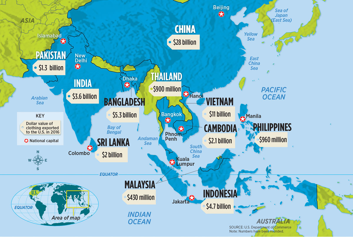 The High Cost Of Fast Fashion - Blank world map scholastic