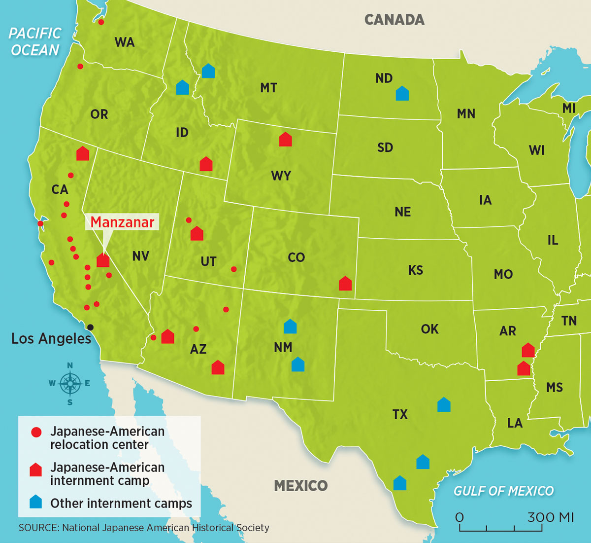 We Are Americans Too - Map-of-japanese-internment-camps-in-us