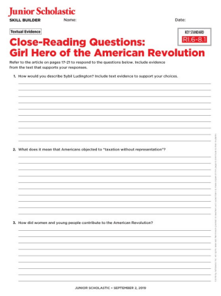 Skills Sheets | Junior Scholastic Magazine