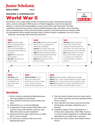 World War II Teaching Resources | Worksheets and Lesson Plans