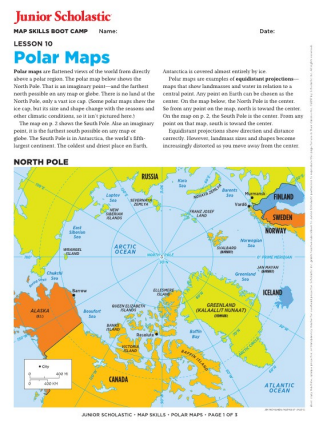 Map skills for kids grades 6 8 junior scholastic magazine geography gumiabroncs Image collections