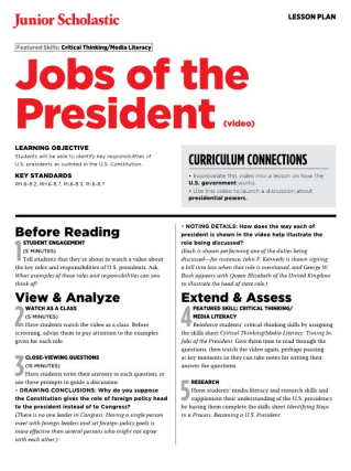 photo relating to Printable List of Presidents in Order named Employment of the President Totally free Centre College or university Coaching Products