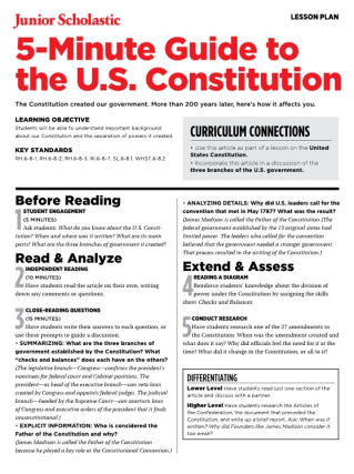 The Constitution | Free Middle School Teaching Resources